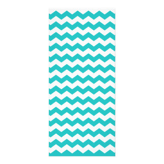 turquoise  white chevrons rack card