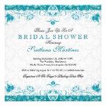 Turquoise & White Damask Bridal Shower Invitation Personalized Invitations