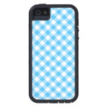 Turquoise White Gingham Case For iPhone 5