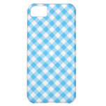 Turquoise White Gingham iPhone 5C Cases