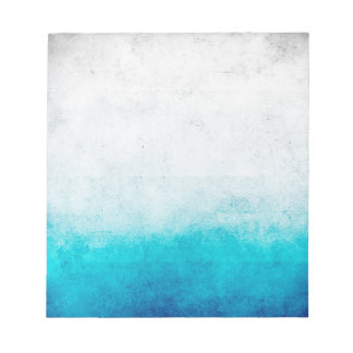 Turquoise & White Ombre Distressed Watercolor Notepad