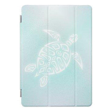 Hawaiian Themed Turquoise White Turtle iPad Pro Cover