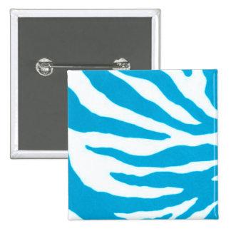 Turquoise & White Zebra Pin