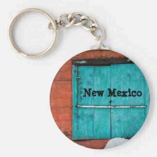 Turquoise Window Basic Round Button Keychain