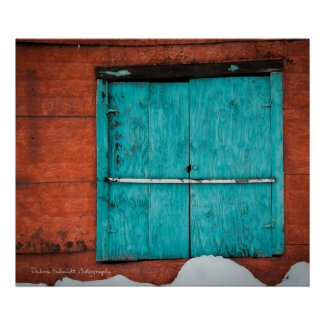 Turquoise Window print