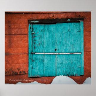 Turquoise Window Poster