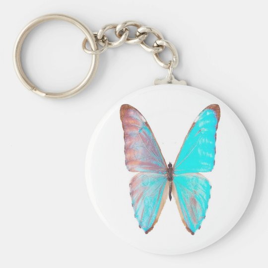 Turquoise-wings, butterfly keychain