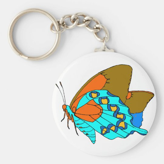 Turquoise Wings Keychain