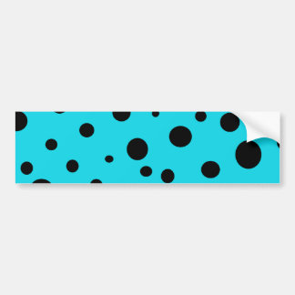 Turquoise with Black Polka Dots Fashion Fun Bumper Sticker