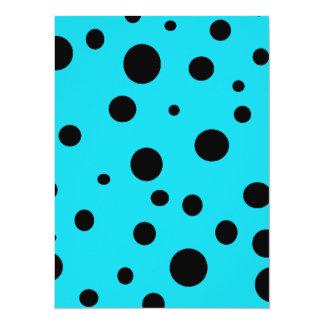 Turquoise with Black Polka Dots Fashion Fun Card