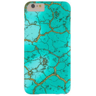 Turquoise with Gold Matrix Barely There iPhone 6 Plus Case