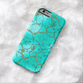 Turquoise with Gold Matrix Barely There iPhone 6 Case