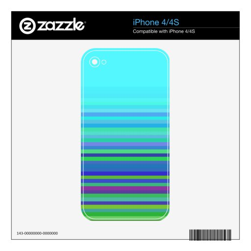 Turquoise with Stripes iPhone 4/4S Skin iPhone 4 Skins