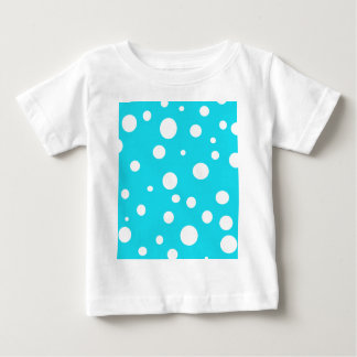 Turquoise with White Polka Dots Fashion Fun Baby T-Shirt