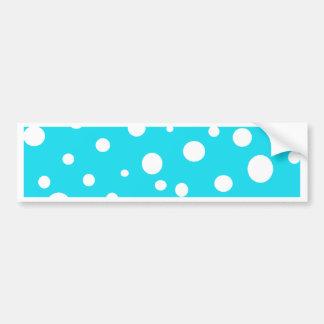 Turquoise with White Polka Dots Fashion Fun Bumper Sticker