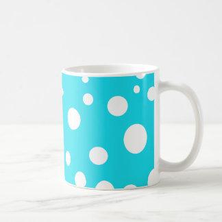 Turquoise with White Polka Dots Fashion Fun Coffee Mug