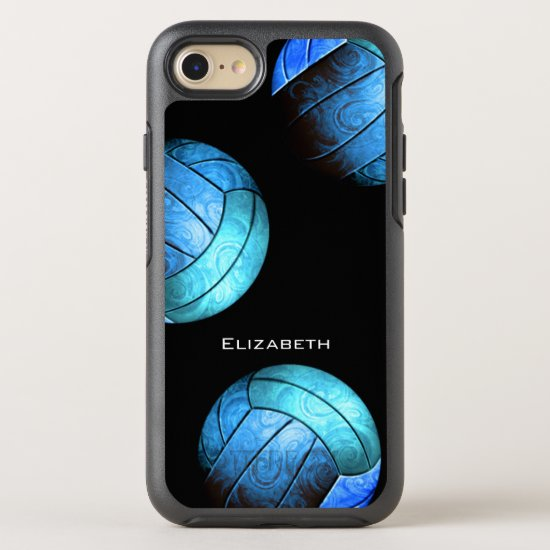 turquoise women's volleyball OtterBox symmetry iPhone SE/8/7 case