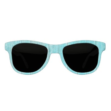 Beach Themed Turquoise Wood Texture Sunglasses