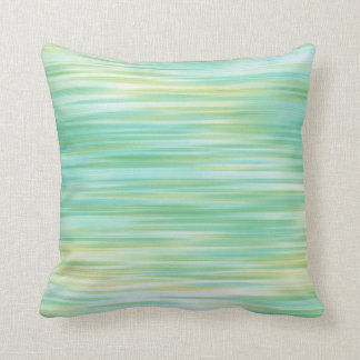 Turquoise Yellow Abstract Pillow