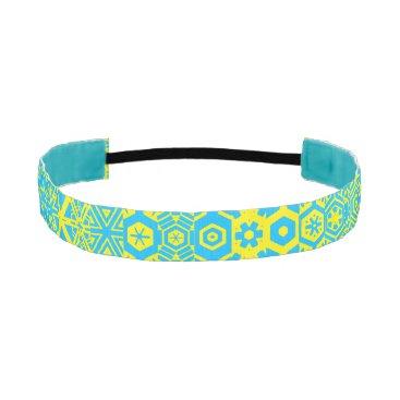 Aztec Themed Turquoise yellow Geometric 4Kathleen Athletic Headband