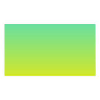 Turquoise Yellow Ombre Double-Sided Standard Business Cards (Pack Of 100)