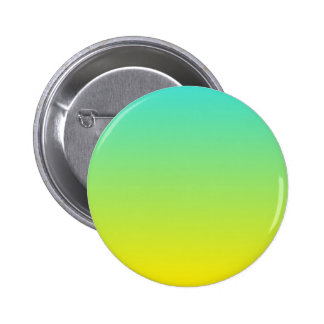 Turquoise Yellow Ombre 2 Inch Round Button