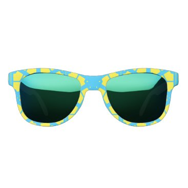 Beach Themed Turquoise Yellow Sunshine 4Tina Sunglasses