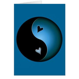 turquoise yin yang card