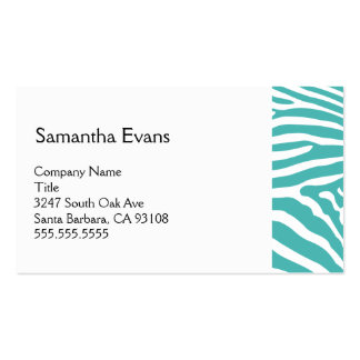 Turquoise Zebra Business Card
