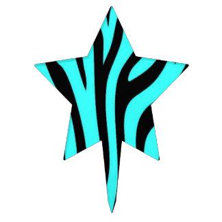 Turquoise Zebra Cake Topper