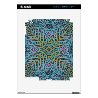 Turquoise zebra pattern decal for iPad 3