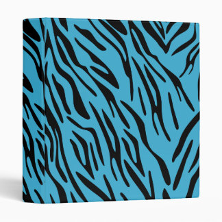 Turquoise Zebra Stripe 3 Ring Binder
