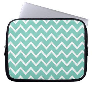 Turquoise Zig Zag Chevron Laptop Sleeve