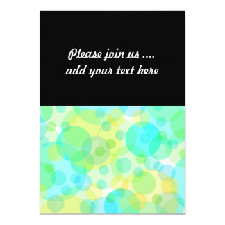 Turquosie Green Yellow Circles Bubbles Modern Art Card