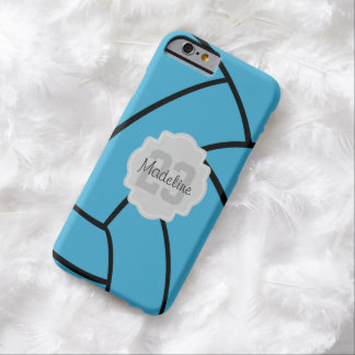 Turquosie Volleyball Monogram Custom iPhone Case Barely There iPhone 6 Case