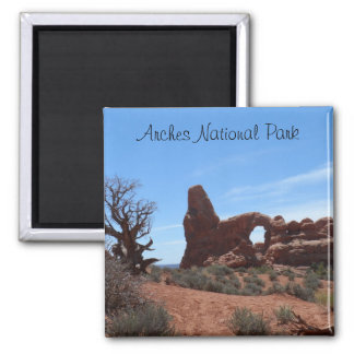 Turret Arch- Arches National Park 2 Inch Square Magnet