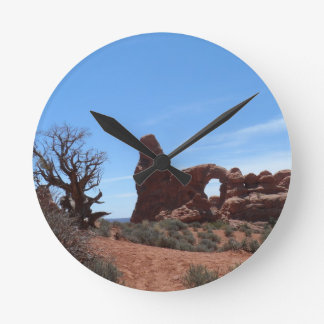 Turret Arch- Arches National Park Round Clock