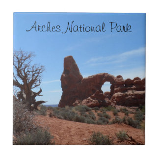 Turret Arch- Arches National Park Small Square Tile