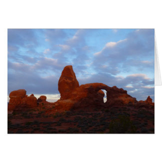 Turret Arch at Sunrise in Arches National Park Card