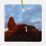 Turret Arch at Sunrise in Arches National Park Ceramic Ornament