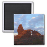 Turret Arch at Sunrise in Arches National Park Magnet