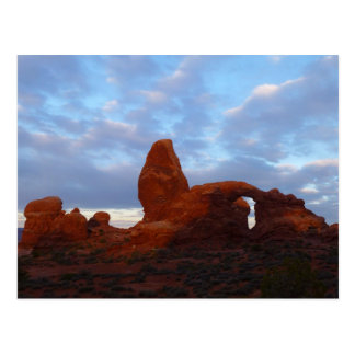 Turret Arch at Sunrise in Arches National Park Postcard