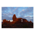 Turret Arch at Sunrise in Arches National Park Poster
