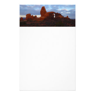 Turret Arch at Sunrise in Arches National Park Stationery