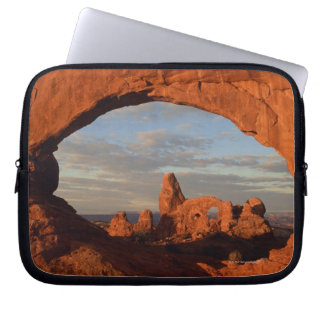 Turret Arch seen through North Window , Arches Laptop Computer Sleeve