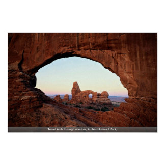 Turret Arch through window, Arches National Park, Poster