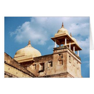 Turret at Amer Fort, Jaipur, Rajasthan, India Card