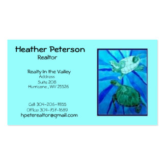 turtle2 Heather Peterson Realtor Realty In t Business Cards