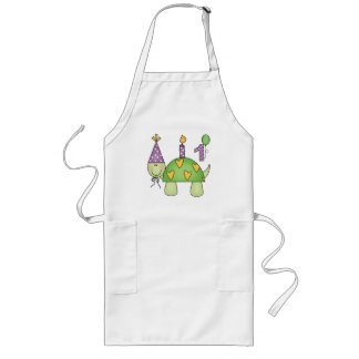 Turtle 1st Birthday Long Apron
