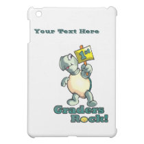 """Turtle """"1st Graders Rock"""" Design iPad Mini Cover"""